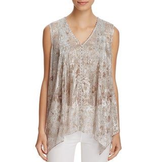 Elie Tahari Womens Pullover Top Silk Metallic (3 options available)