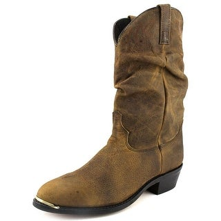 Dingo Slouch Men EW Pointed Toe Leather Brown Western Boot