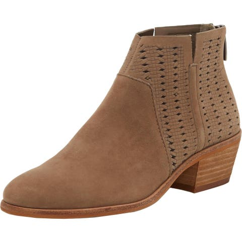 Vince Camuto Womens Patellen Booties Suede Cut Out