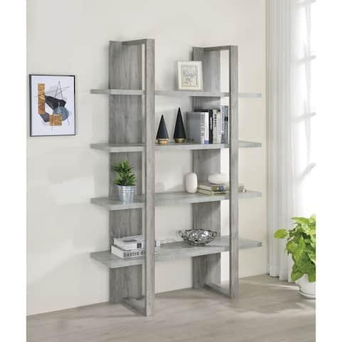 Mystrene 4-shelf Two-tone Bookcase
