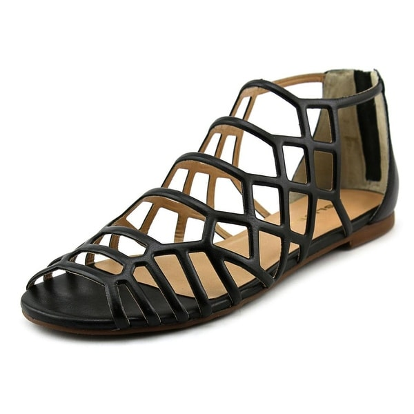 J/Slides Alex Women Open Toe Leather Gladiator Sandal