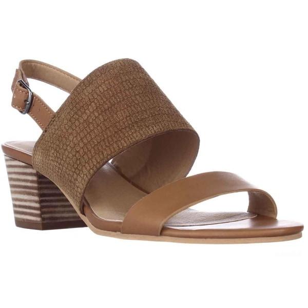 Lucky Brand Gewel Block Heel Sandals, Brown Sugar - 6.5 us