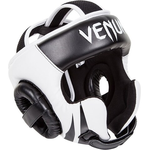Venum Challenger 2.0 Boxing Headgear with Hook and Loop Strap - Black/White