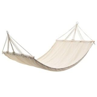 vidaXL Hanging Hammock Double Person Portable Cream Swing Chair Outdoor Seat