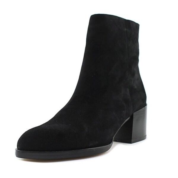 Sam Edelman Joey Women Round Toe Suede Black Ankle Boot