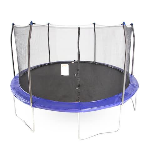 Skywalker Trampolines Blue 15-foot Round Trampoline with Enclosure