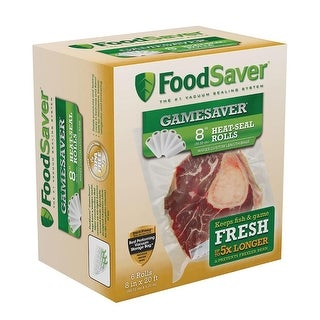 Foodsaver Gamesaver 8 Inches X 20 Feet Long Rolls - 6 Pack - FSGSBF0544-P00