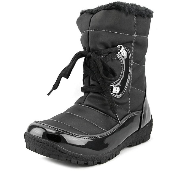 Sporto Mini Women  Round Toe Synthetic Black Snow Boot