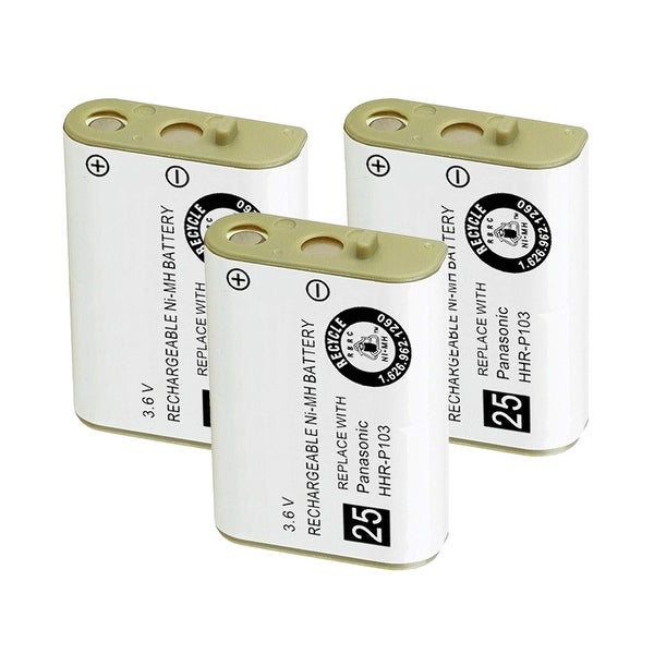 Replacement For AT&T 102 Cordless Phone Battery (700mAh, 3.6V, Ni-MH) - 3 Pack