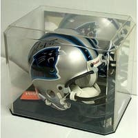 Mini Helmet Display Case Black Base Mirror Back