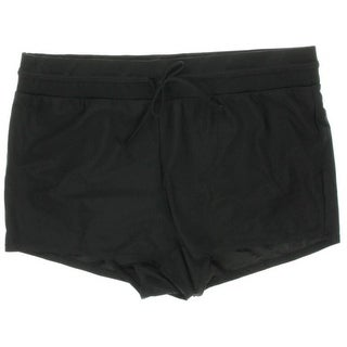 Penningtons Womens Plus Ti Voglio Drawstring Boy Shorts Swim Bottom Separates - 2X