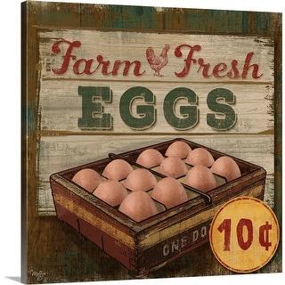 """""""Farm Fresh Eggs"""" Canvas Wall Art"""