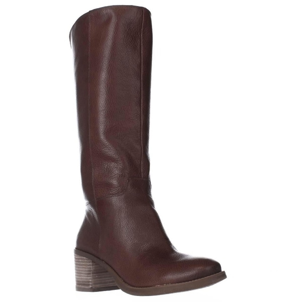 Lucky Brand Ritten Block Heel Riding Boots, Whiskey