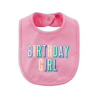 Carters Birthday Girl Bib - Pink