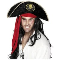 Pirate Hat with Skull Adult Costume Accessory