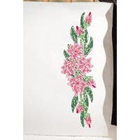 """Tiger Lily - Stamped Pillowcase Pair For Embroidery 20""""X30"""""""