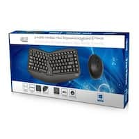 Adesso - Tru-Form Media 1150 Wireless Ergo  Mini Trackball Keyboard And Optical Ergo Mous