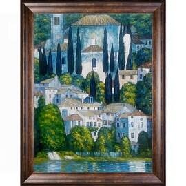 Kirche in Cassone by Gustav Klimt Framed Hand Painted Oil on Canvas