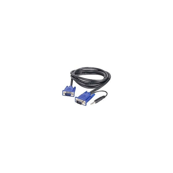 SIIG CE-VG0J11-S1 SIIG A/V Cable Adapter - for Audio/Video Device - 6 ft - 1 x DB-15 Male VGA, 1 x Mini-phone Male Audio - 1 x