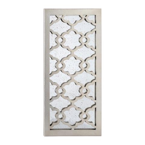 "UtopiaAlley Martique Wood Decorative Mirror, 31.5""H, Distressed Silver - 30"