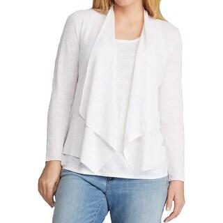 Eileen Fisher Womens Plus Cardigan Sweater Linen Long Sleeves - 1x
