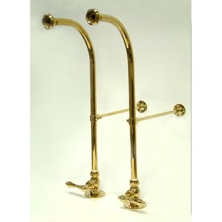 Elements Of Design DS452ML Rigid Freestanding Supply Lines With Metal Lever  Handles For Leg Tubs From