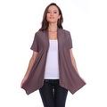 Simply Ravishing Women's Basic Short Sleeve Open Cardigan (Size: Small-5X) - Thumbnail 3