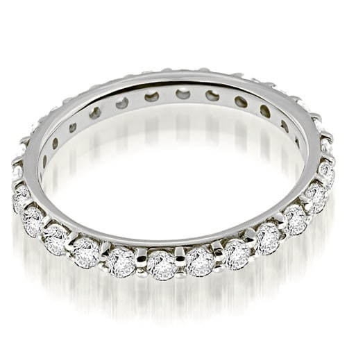 1.30 cttw. 14K White Gold Petite Round Cut Diamond Eternity Band Ring