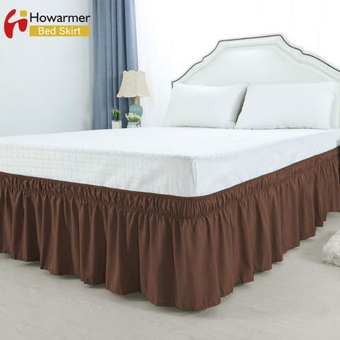 Elastic Replaceable Pleated Wrap Around Bed Skirts