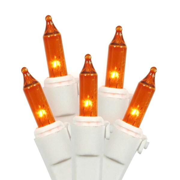 Shop Lights Walmart: Shop Set Of 100 Orange Mini Christmas Lights