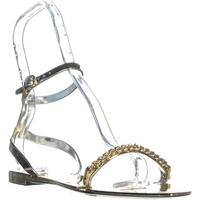 DKNY Moana Ankle Strap Flat Sandals, Gold - 10 us / 41 eu