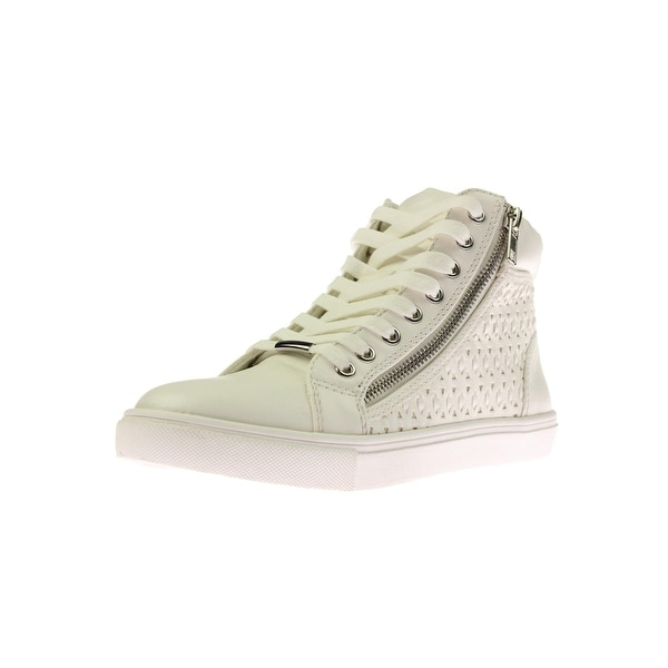 82c28c87465 Shop Steve Madden Womens Eiris Fashion Sneakers Faux Leather Lace-Up ...