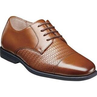 Florsheim Boys' Reveal Cap Toe Oxford II Cognac Leather