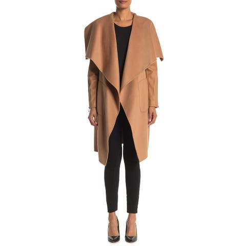 BCBGMAXAZRIA Long Draped Coat