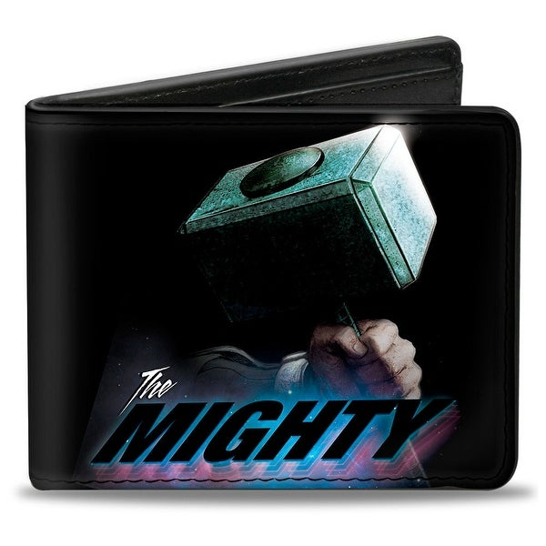 Marvel Avengers Thor'S Hammer The Mighty Space Dust Black Bi Fold Wallet - One Size Fits most