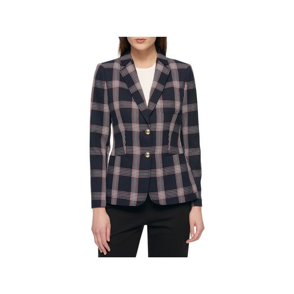 01bbe9014 Shop Tommy Hilfiger Womens Two-Button Blazer Plaid Office Wear - On ...