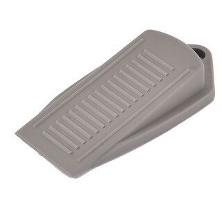 Rubber Doorstop Home Office Door Stop Wedge Safety Stopper Gray