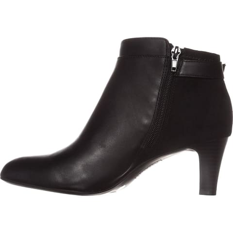 Alfani Womens Viollet Leather Leather Pointed Toe Ankle Fashion Boots