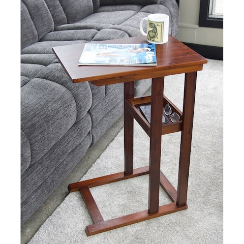 Solid Acacia C Table With Storage Tray