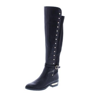 38f3628baa9 Vince Camuto Womens Pelda Riding Boots Leather Knee-High