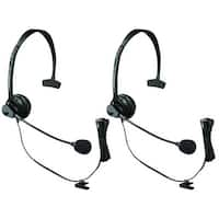 Panasonic KX-TCA60 (2 Pack) Hands-Free Headset with Comfort Fit Headband for Cordless Phones
