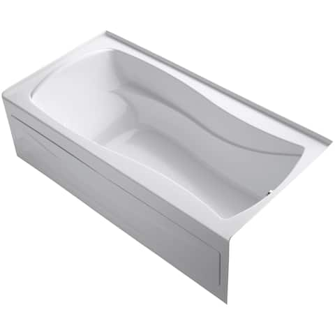 "Kohler K-1257-GRA Mariposa Collection 72"" Three Wall Alcove Airpool Bath Tub with Right Hand Drain"