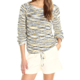 Theory NEW White Women's Size Large L Knitted Drawstring Sweater