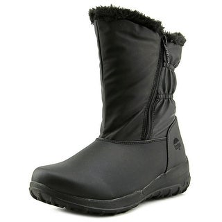 Totes January Women W Round Toe Synthetic Black Snow Boot