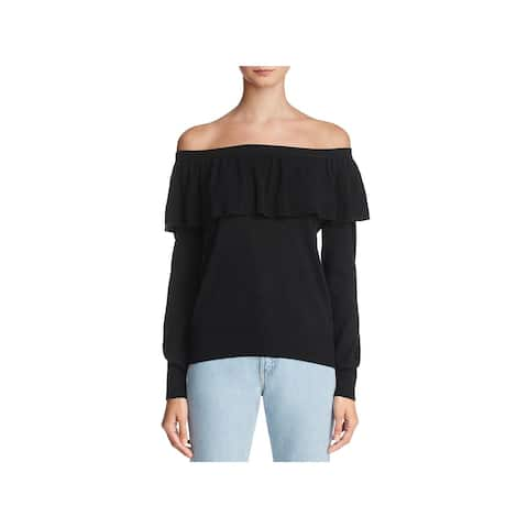 Joie Womens Sweater Off-The-Shoulder Long Sleeves - M