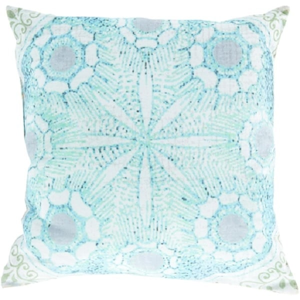 """26"""" Pastel Green and Blue Geometric Indoor/Outdoor Decorative Throw Pillow"""
