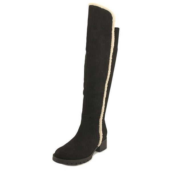 Karl Lagerfeld Baron 2 Women Round Toe Synthetic Black Over the Knee Boot