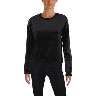 Juicy Couture Black Label Womens Paradise Cove Sweatshirt Velour Lightweight