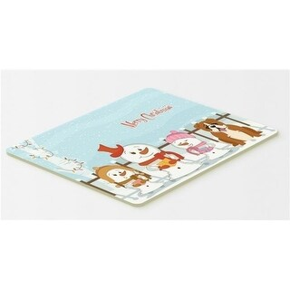 Carolines Treasures BB2451CMT Merry Christmas Carolers English Bulldog Red & White Kitchen or Bath Mat 20 x 30