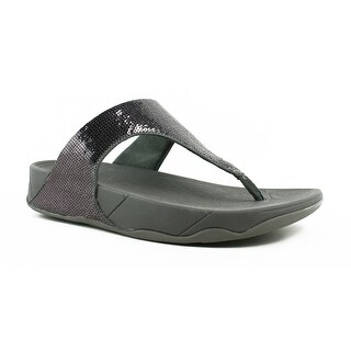 FitFlop Womens Electra Pewter Flip Flops Size 10
